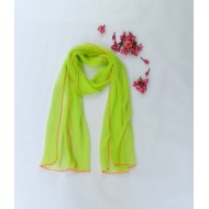 Two Feet Green Chiffon Stole with Gota Patti